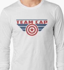 PLEASE SUPPORT TEAM CAP Long Sleeve T-Shirt