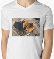 Tulip Tree Leaf – Frozen Raindrops in the Sunshine Men's V-Neck T-Shirt