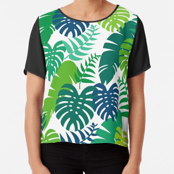 Carnival of Leaves Chiffon Top