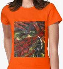 Franz Marc - Animals In A Landscape .German Landscape Womens Fitted T-Shirt