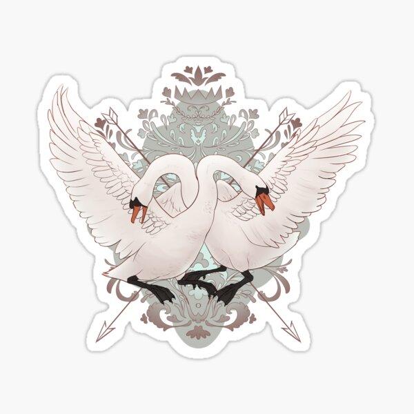 Warring Swans Sticker