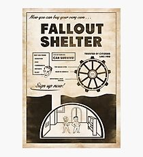 Shelter Propaganda Poster Photographic Print