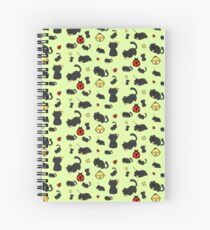 Ladybug and the cat Spiral Notebook