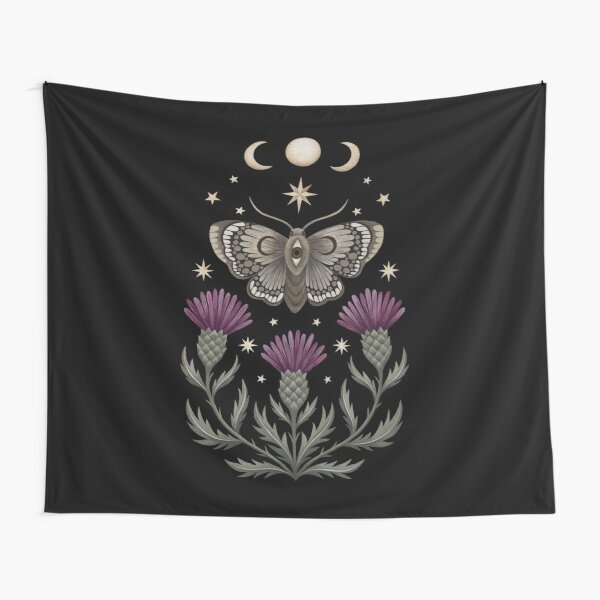 Thistle and moth Tapestry