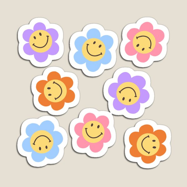 Smiley flowers Magnet