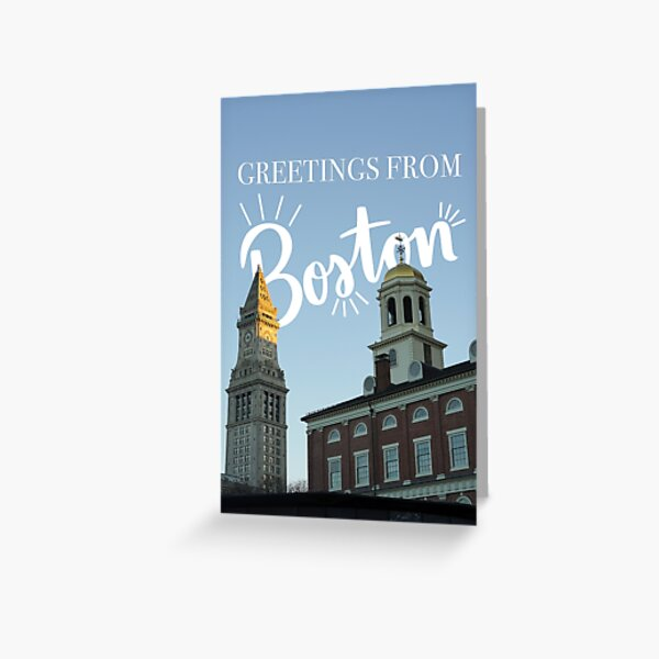 Greetings from Boston card Greeting Card