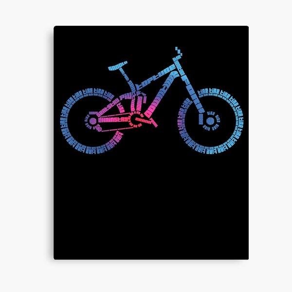 Enduro Bike MTB Anatomy - T-Shirt - rainbow Canvas Print