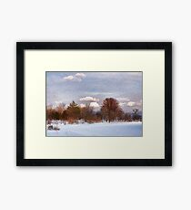 Colorful Winter Day on the Lake Framed Print