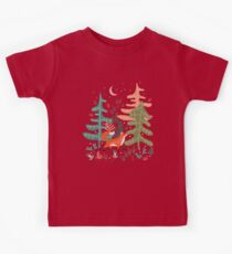 Evergreen Fox Tale Kids Tee