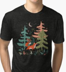 Evergreen Fox Tale Tri-blend T-Shirt