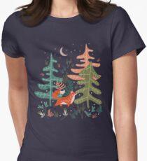Evergreen Fox Tale Women's Fitted T-Shirt