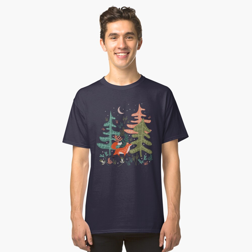 Evergreen Fox Tale Classic T-Shirt Front