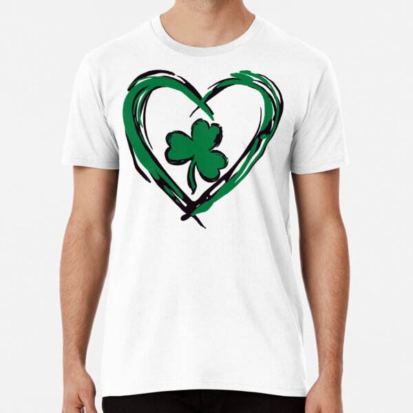 Green Heart with Clover Leaf Premium T-Shirt