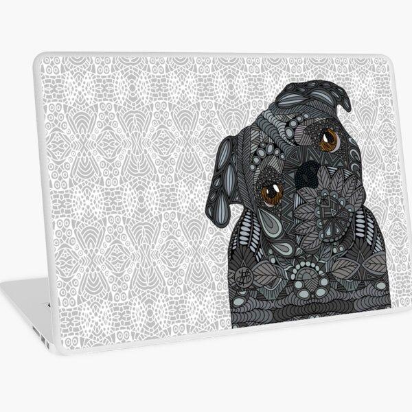 Black Pug Laptop Skin