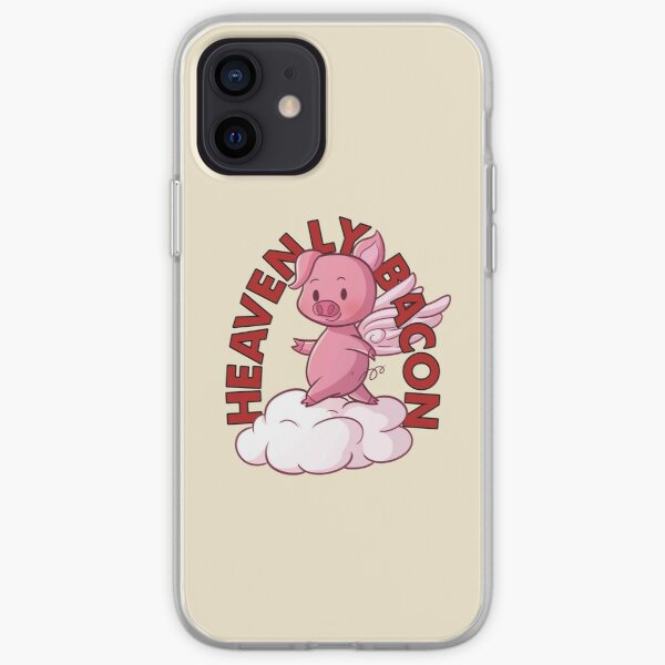 Heavenly Bacon - Cute Piggy Angel Gift For Bacon Lover iPhone Soft Case