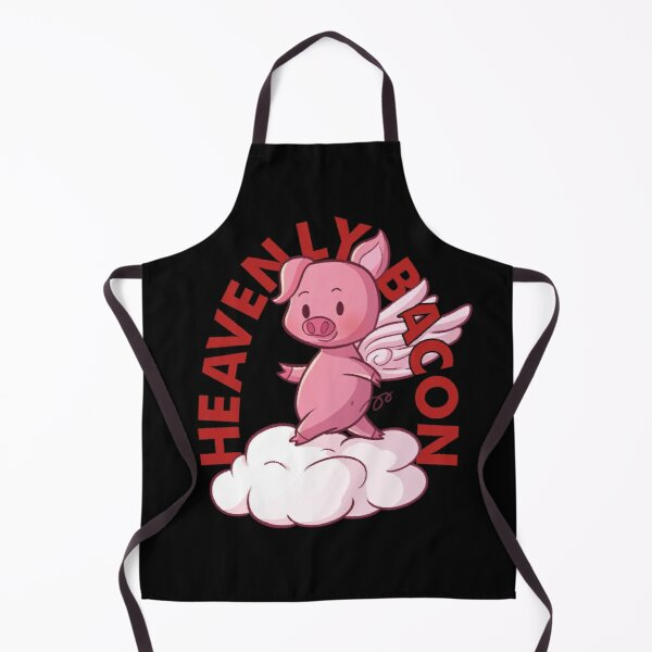Heavenly Bacon - Cute Piggy Angel Gift For Bacon Lover Apron