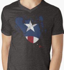 Ripped Star Spangled  Men's V-Neck T-Shirt