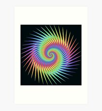Dizzy Swirling Rainbow Spin Art Print