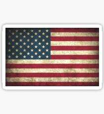 Weathered American Flag Sticker