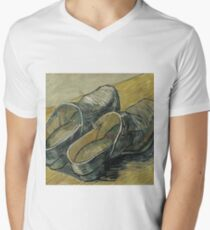 Vincent Van Gogh  - A pair of leather clogs, 1888. Famous Paintings. Impressionism. Men's V-Neck T-Shirt