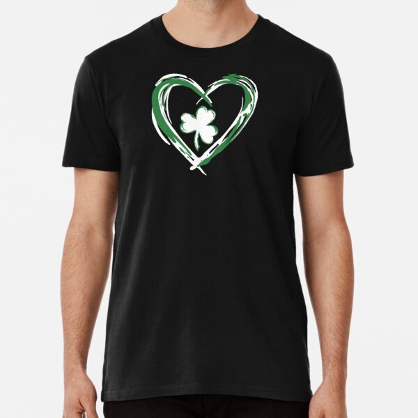 Green, white heart and clover Premium T-Shirt