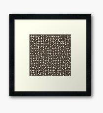 Modular - Earthtones Framed Print