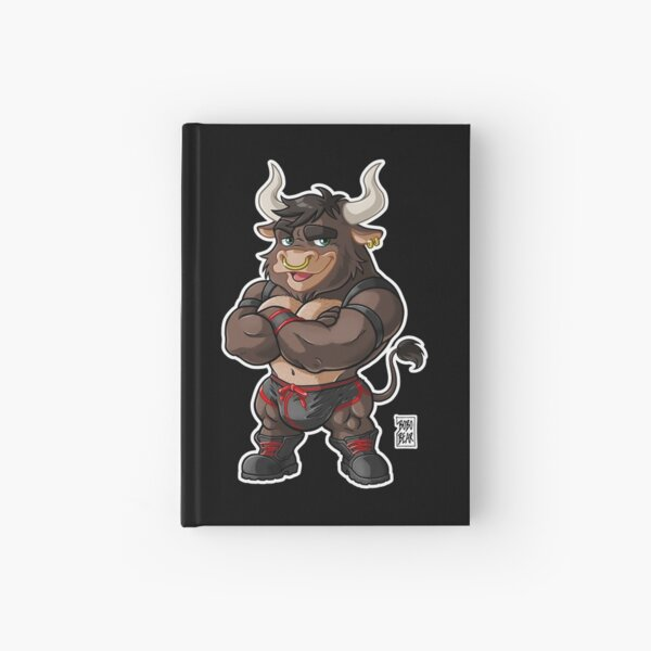 BEEFY BULL (RED DETAILS) - BEARZOO SERIES Hardcover Journal