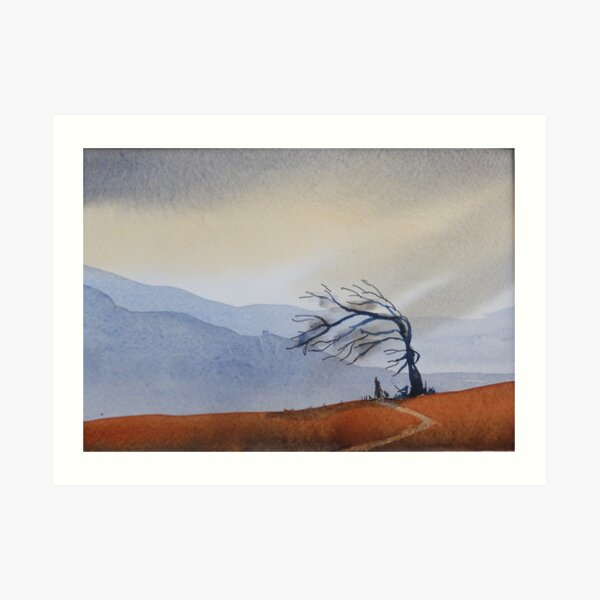 Tree in the Wind Art Print