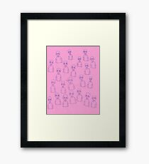 Unsettling Potato Men in Gel Pen Framed Print
