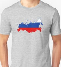 Flag Map of Russia  T-Shirt