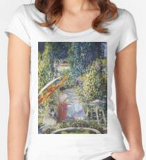 Vintage famous art - Frederick Carl Frieseke - The Garden Umbrella Women's Fitted Scoop T-Shirt