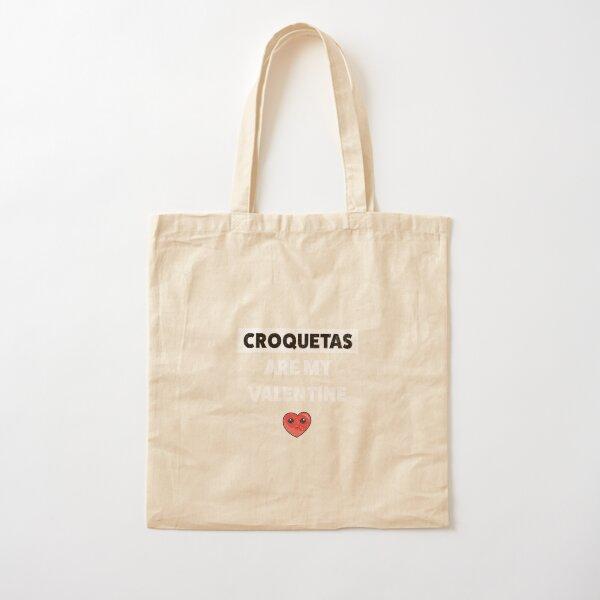 Diseño Cubano Croquetas Lovers Bolsa de algodón