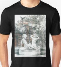 the city fountain with figurines of girls  T-Shirt