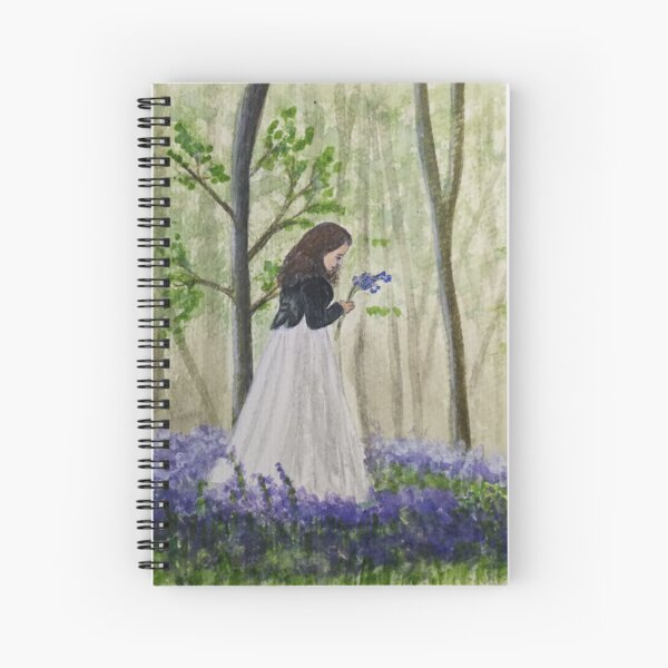 Charlotte In The Bluebells Spiral Notebook