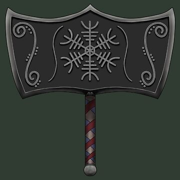 Mjolnir with Helm of Awe - Thor's Hammer by RagDesigns