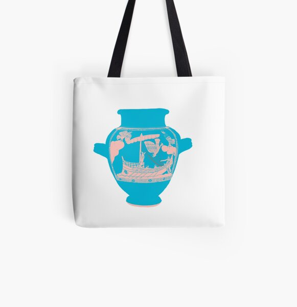 Odysseus and the Sirens All Over Print Tote Bag