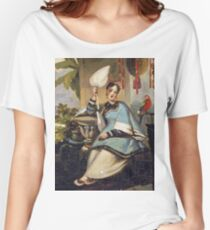 George Chinnery - Portrait Of A Girl Women's Relaxed Fit T-Shirt