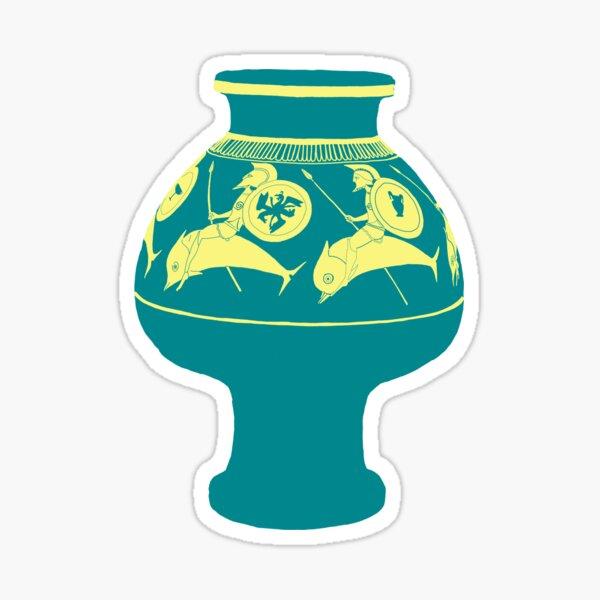 Dolphin Vase Sticker