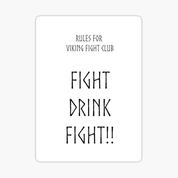 Viking Fight Club Sticker