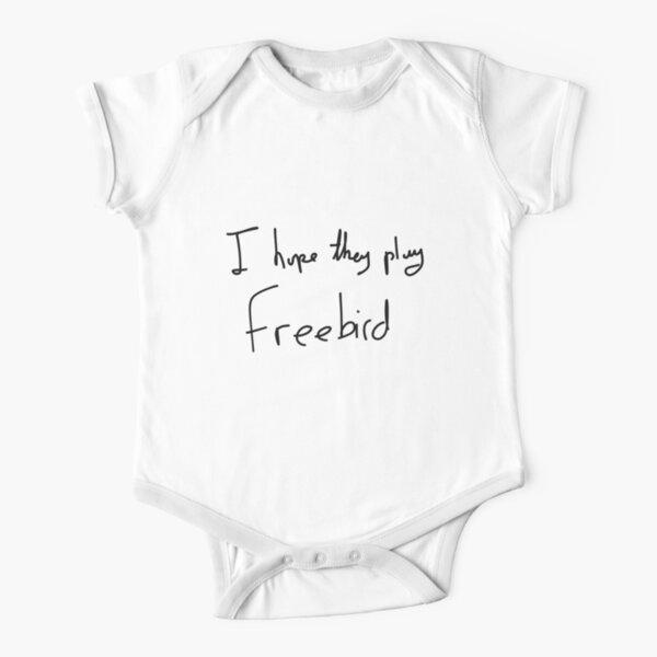 I Hope They Play Freebird -Black Short Sleeve Baby One-Piece