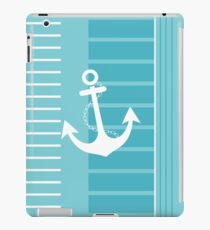 Trendy Nautical Blue and White Stripe Design iPad Case/Skin