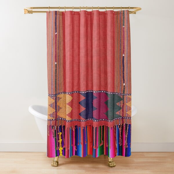 Colors of Guatemalan Crafts Shower Curtain