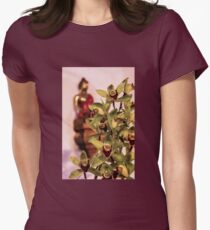 Buddha and orchids Women's Fitted T-Shirt