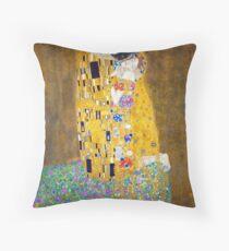 Gustav Klimt - The Kiss Throw Pillow