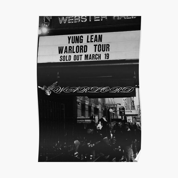 YUNG LEAN - WARLORD-PLAKAT Poster