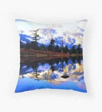 Glacier Mountain Throw Pillow
