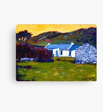 Cottage from Sheep Field Canvas Print