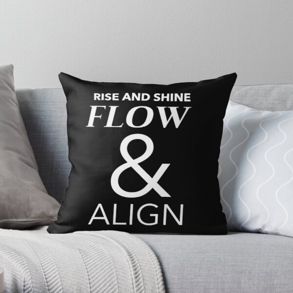 Rise And Shine Flow & Align Throw Pillow