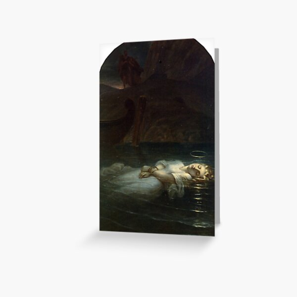 The Young Martyr, by Paul Delaroche Greeting Card