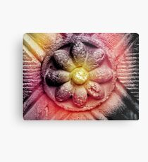 Colorized Flower Metal Print